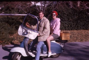 Nick & Sis on my '59 Lambretta.