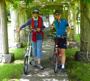 Sooney & Julie touring Comox during Canada Day weekend, 2016