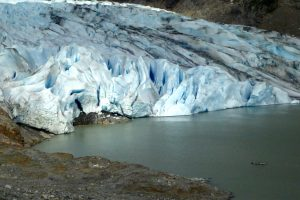 Mendenhall Glacier near our campgroundClick to view our Juneau Photo Gallery.