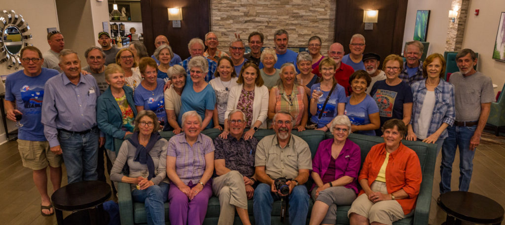 36 of us gathered in Asheville, NC, for our 48th year reunion.